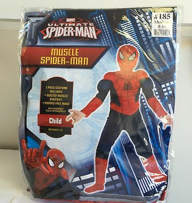 NEW, Marvel Ultimate Spiderman Muscle Halloween Child Costumes #185