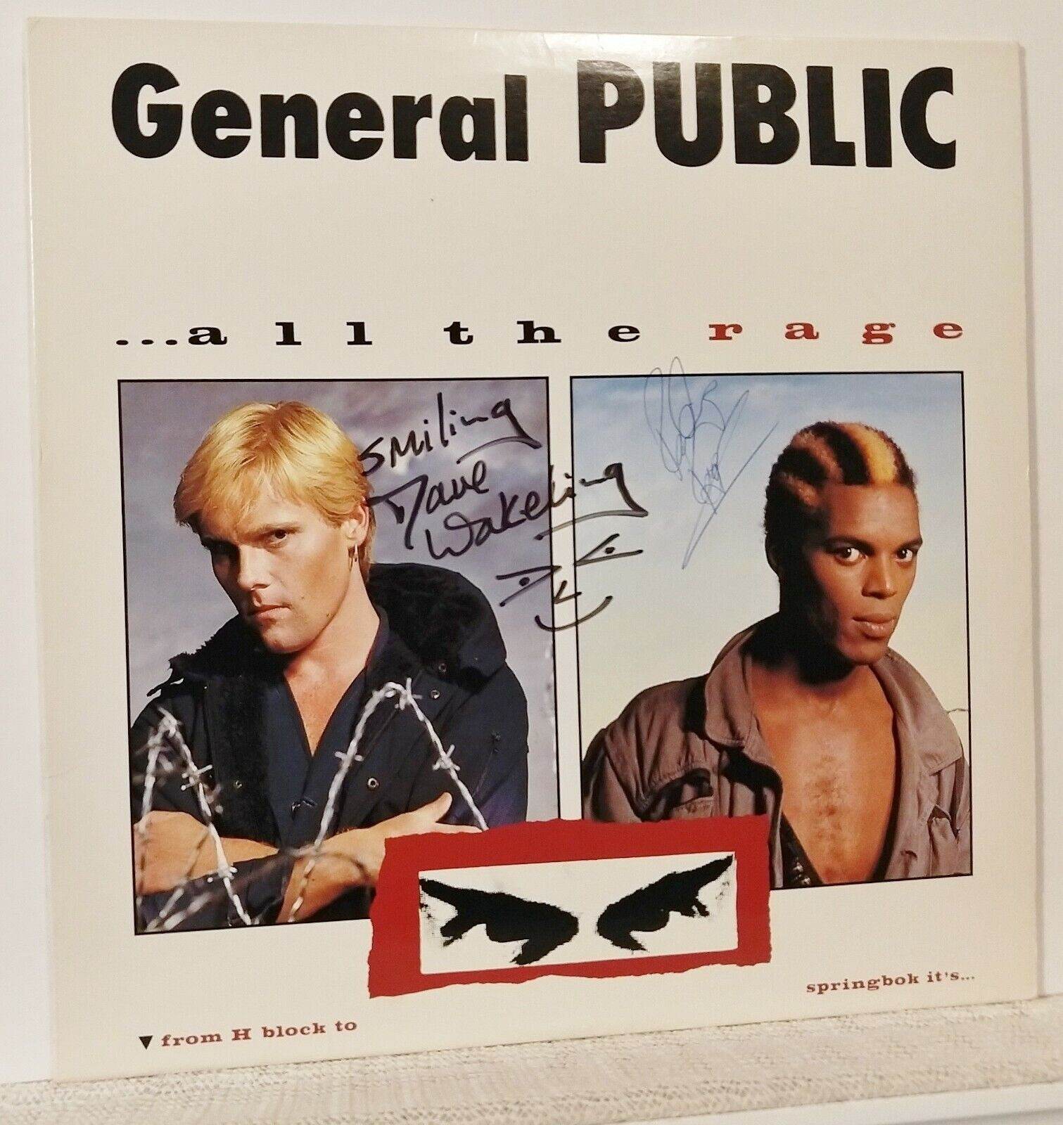 RARE AUTOGRAPHS General Public All The Rage LP 1984 Dave Roger English Beat - $165.99
