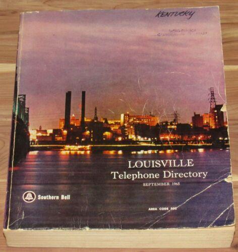 SEPTEMBER 1965 LOUISVILLE TELEPHONE DIRECTORY BOOK, KENTUCKY, AREA CODE 502