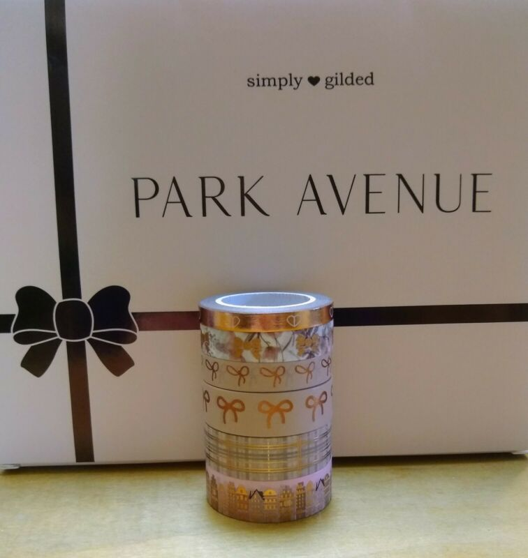 Simply Gilded Park Avenue Washi Sample Set of 6