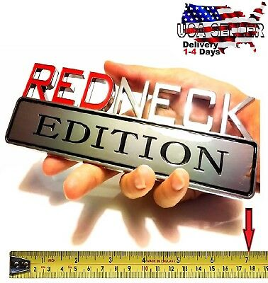 ❗️ REDNECK EDITION CAR TRUCK Trunk EMBLEM LOGO DECAL SIGN RED NECK - New Years Decor Ideas