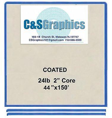 "4 ROLLS 44""x150' 24LB COATED BOND PLOTTER PAPER"