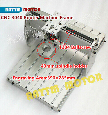 Desktop 3040 Cnc Router Engraving Milling Drilling Frame Machine Kit43mm Clamp