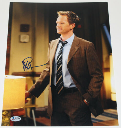 NEIL PATRICK HARRIS SIGNED 'HOW I MET YOUR MOTHER' 11X14 PHOTO BECKETT COA BAS