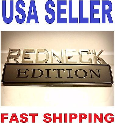 REDNECK EDITION car truck CADILLAC EMBLEM logo decal SUV ornament SIGN badge 1.