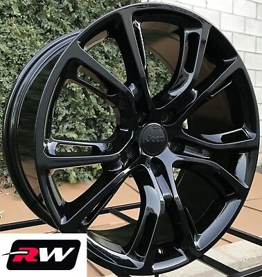"17"" inch RW Wheels for Jeep Renegade 17x8"" Gloss Black Rims 5x110 SRT8 Spider"