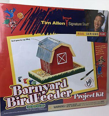 Tim Allen Signature Stuff Barnyard Birdfeeder Project Kit Wood Nails Paint New