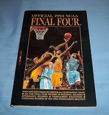 Official 1994 NCAA Basketball Final Four Book Records Stats - Final Four Records