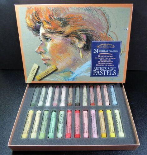 Set of 24 Winsor & Newton Soft Pastels ~ Portrait Colors