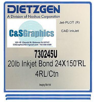 4 Rolls 24 X 150 20lb Bond Hp Designjet Plotter Paper