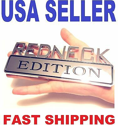 REDNECK EDITION truck AUDI car LAND ROVER EMBLEM logo decal SUV SIGN ornament ..