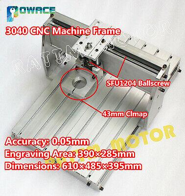 3040 Desktop Cnc Engraving Milling Drilling Router Machine Frame Kit43mm Clamp
