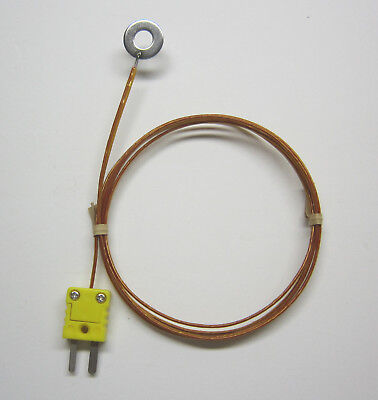 Surface Mount K-type Thermocouple Wire Probe High Temperature Kapton Insulation