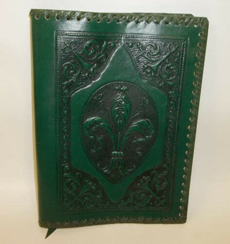 Vintage Italian Hand Tooled Leather Journal Book Cover