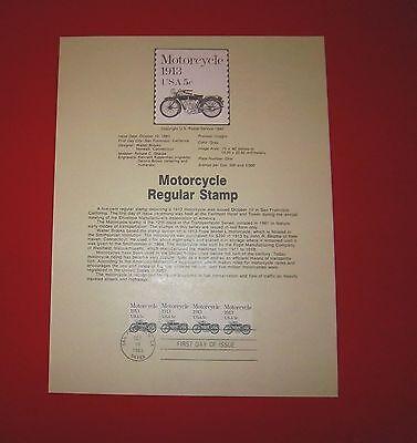 SCOTT 1899 MOTORCYCLE PNC 3  SOUVENIR PAGE 83-38 FDC COIL STRIP / 4  SP542