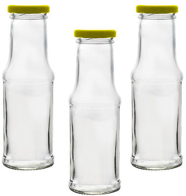 Leere Glasflasche Saftflasche Milchflasche Smoothie Einmachglas mit Deckel 200ml