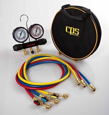 Cps - Mt2h7p5e - Working Man Manifold With R-134a 22 404a 410a Gauges 5 Pr