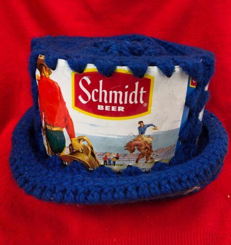 Vintage Beer Can Crochet Party Hat - SCHMIDT BEER - Bar Decor