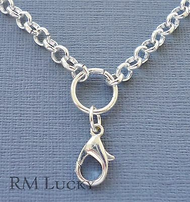 5-6-8mm Silver plated Rolo Chain for Floating Charms Living Memory locket O Ring