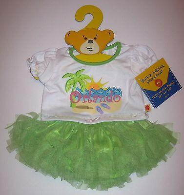 Build A Bear Florida Orlando Green Tutu Set Outfit