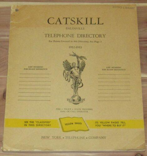 1952-1953 CATSKILL PALENVILLE NEW YORK TELEPHONE DIRECTORY