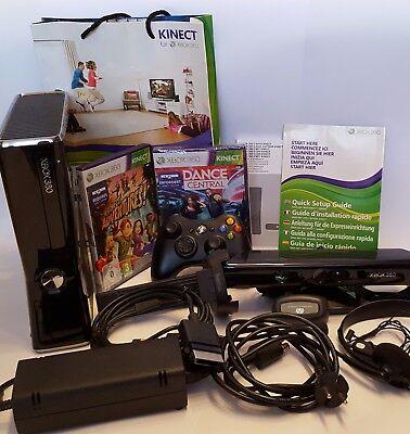 Microsoft Xbox 360 250GB Kinect Bundle +PC gaming receiver + hama Halterung