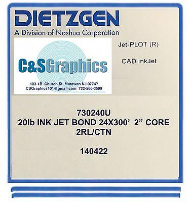 2 Rolls 24 X 300 20lb Bond Plotter Paper