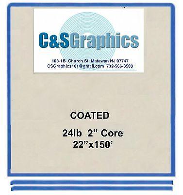 "4 ROLL 22""x150' 24LB COATED BOND PLOTTER PAPER"