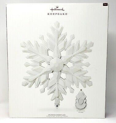 Hallmark 2018 Stunning Snowflake Christmas Tree Topper