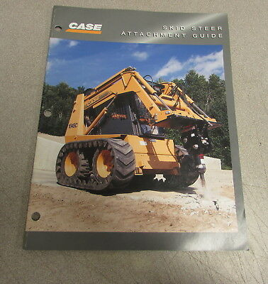 Case Skid Steer Attachment Guide Specifications Brochure Manual Ce-027-6-96