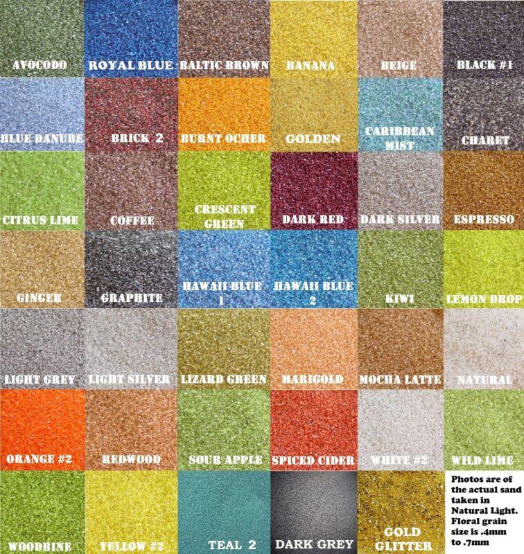 Colored Sand 1/2lb (~3/4 cup) Bags *40 Colors* Floral, Decoration, Unity Sand