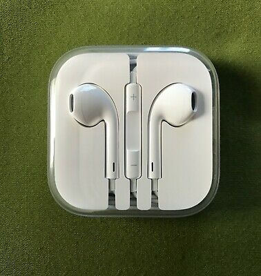 NEW ORIGINAL WHITE APPLE EARPODS WITH 3.5 MM HEADPHONE PLUG IPOD IPHONE IPAD for sale  Shipping to India