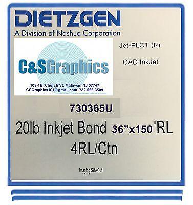 4 ROLLS 36'' X 150' 20lb InkJet Bond Plotter Paper
