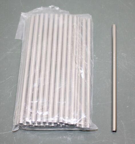 "(50) 4th Utensil Cocktail Stainless Steel Drinking Straws, 5.75"" / 14.6 cm, 6mm"
