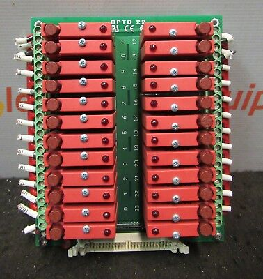Opto 22 G4pb24 G4odc5 24 Channel Mounting Rack Board Plug In Relays Output Logic