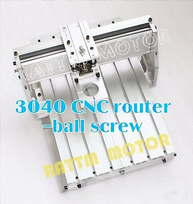 3040 Diy Desktop Ball Screw Cnc Router Engraver Milling Machine Frame43mm Clamp