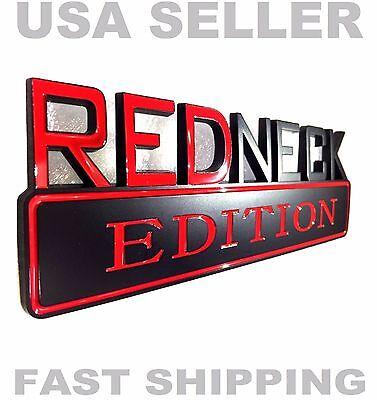 REDNECK EDITION HIGH QUALITY truck car EMBLEM logo decal SUV BLACK ornament