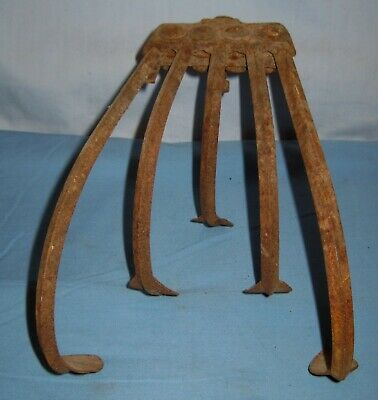 Antique VTG 5 Tine Hand Cultivator Farm Garden Tool adjustable CLAW HOE/Rake