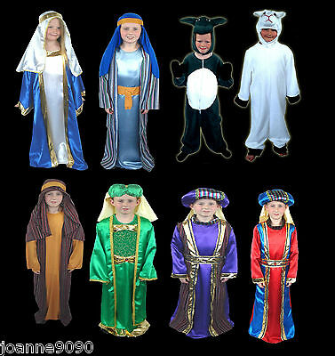 Boys Girls Christmas Nativity Play Joseph Mary 3 Wise Man Shepherd Sheep Costume - Mens Sheep Costume