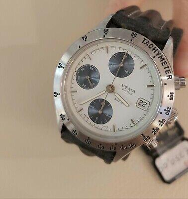 Yema Paris Chronograph Panda Watch Valjoux 7750 Vintage