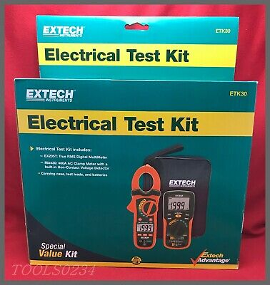 Extech Instruments Etk30 Electrical Test Kit - Multi-meter Ac Clamp Meter