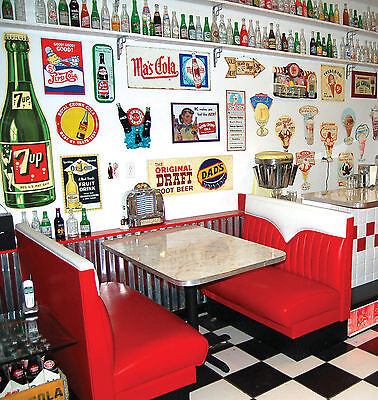 NEW Hot Rod Diner Booth Set , Restaurant Booths Vintage