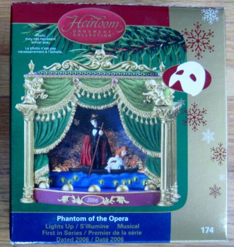 Carlton 2006 Phantom of the Opera Lighted Ornament - Music of Night - New Works