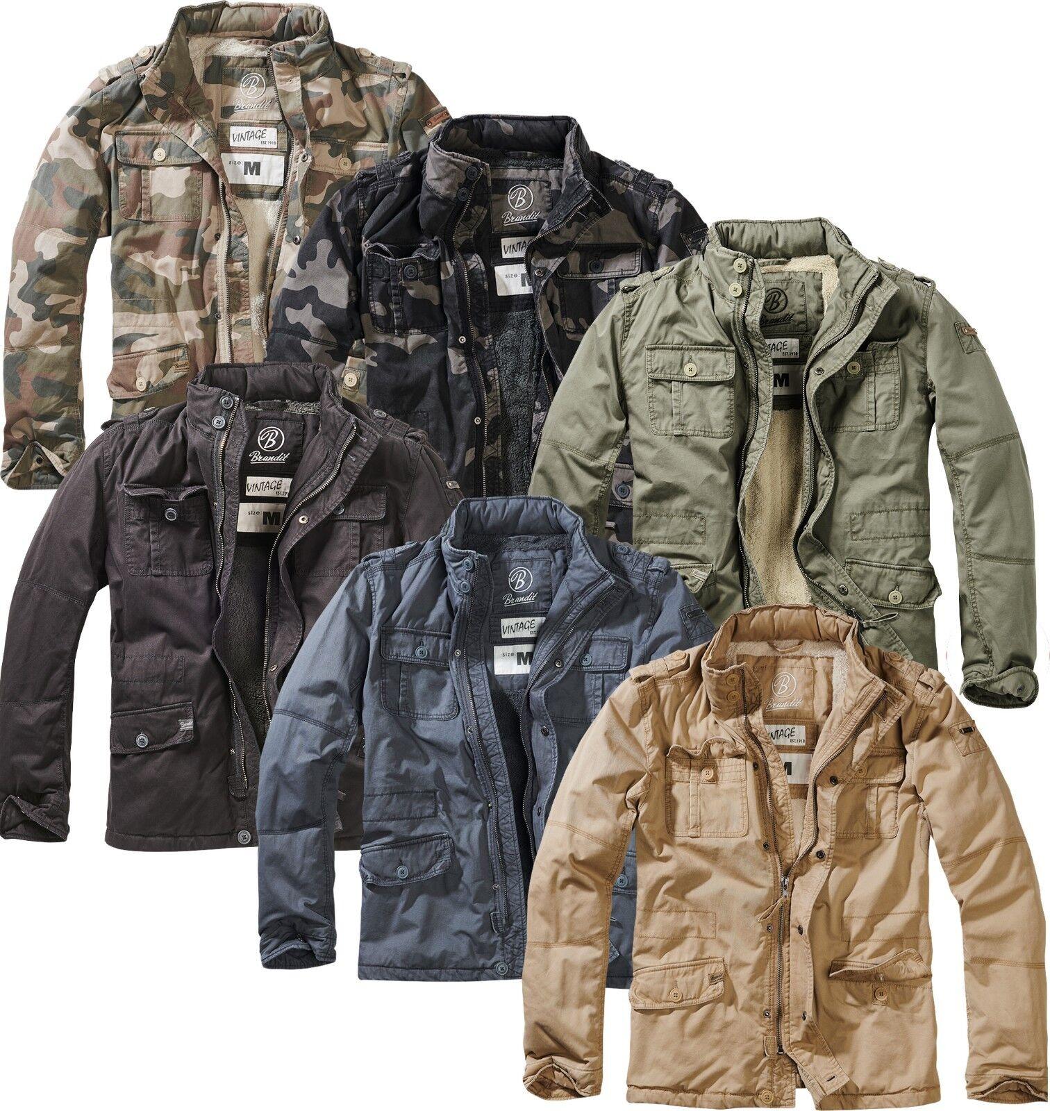 Details zu Brandit Winterjacke Britannia Jacke Winter Jacket gefüttert M65 Feldjacke Parka