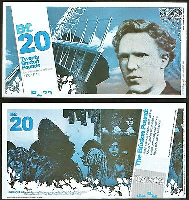 England/ Brixton- Local Currency £20 Banknote, Vincent van Gough. 1st Series.UNC