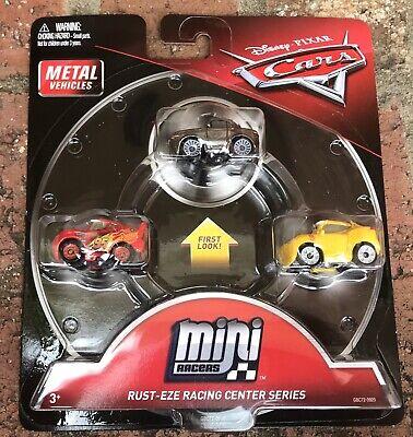 Disney Cars Mini Racers Metallic Sterling Rust-EZE Racing Center Series 3 Pack