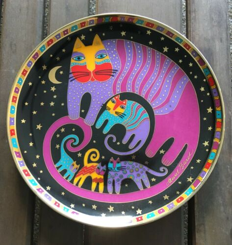 THE FRANKLIN MINT / LAUREL BURCH -Feline Family Cat Plate