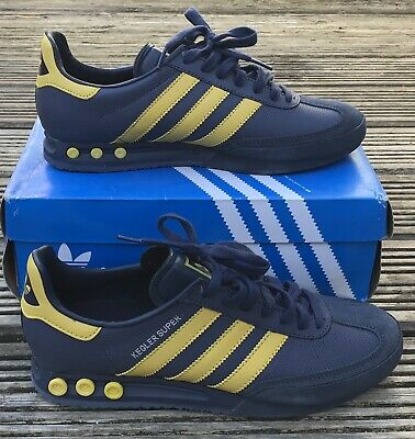 ADIDAS ORIGINALS* KEGLER SUPER BLUE YELLOW TRAINERS UK 9