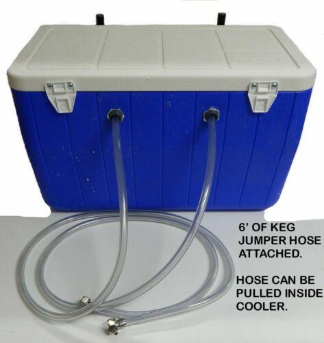 """Jockey Box Cooler, 2 Faucet 5/16"""" 50"""