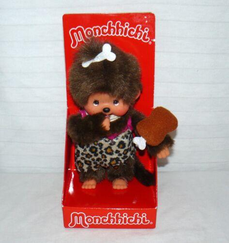"Monchhichi Caveman Girl 8"" Doll Plush 2009 HTF"